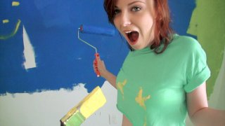 Redhead Tits Painting Nude - Lets Try Anal